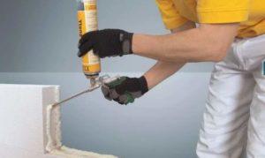 Клей-пена для газобетона