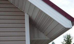 Софит сайдинг перфорированный для отделки карнизных свесов крыши