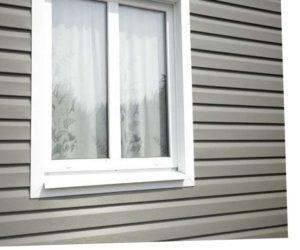 Отделка окна сайдингом