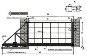 Ширина въездных ворот: Размеры и Виды- Обзор +Видео