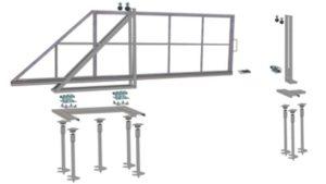 Простота монтажа откатных ворот позволяет любому сделать конструкцию своими руками: Смотрите Видео