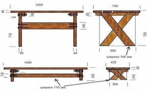 Лавочки и столы в беседку: принцип изготовления, необходимые материалы и приспособления +Видео