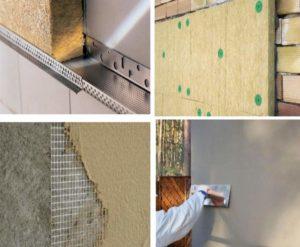 Мокрая штукатурка фасада своими руками– технология покрытия