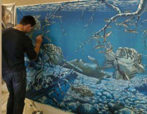 Рисование на стенах в квартире акриловыми красками